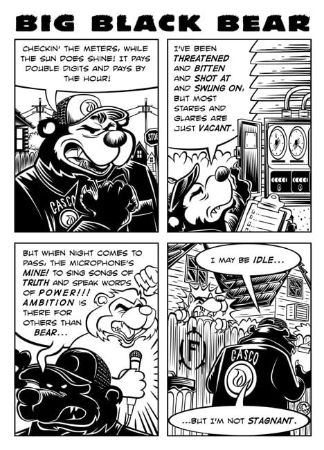 Webcomic Wednesdays #35: Big Black Bear on the daily grind