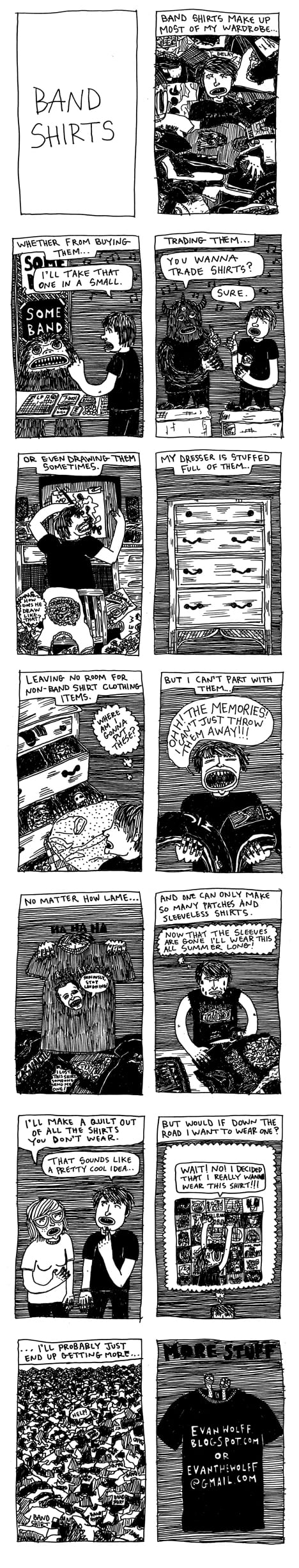 Webcomic Wednesdays #29: Where We All Have Too Many Band Shirts