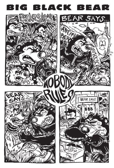 Webcomic Wednesdays #27: Big Black Bear says, 'NOBODY RULES.'